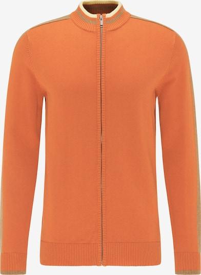 MO Gebreid vest in de kleur Lichtbruin / Lichtgeel / Sinaasappel, Productweergave