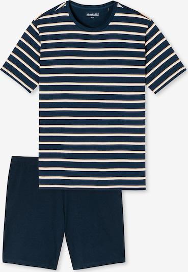 SCHIESSER Kurzarm Schlafanzug ' Essentials ' in dunkelblau / weiß, Produktansicht