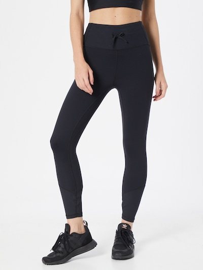 UNDER ARMOUR Workout Pants 'Meridian' in Black / White, View model