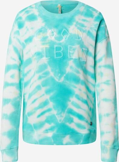 Key Largo Sweatshirt in türkis / weiß, Produktansicht