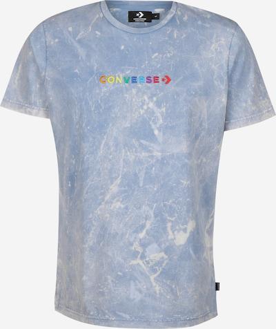 CONVERSE T-Shirt 'SS Crew' in himmelblau / gelb / grün / orange / rot / weiß, Produktansicht