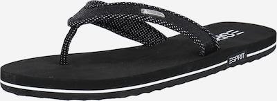 ESPRIT T-bar sandals in Black / White, Item view