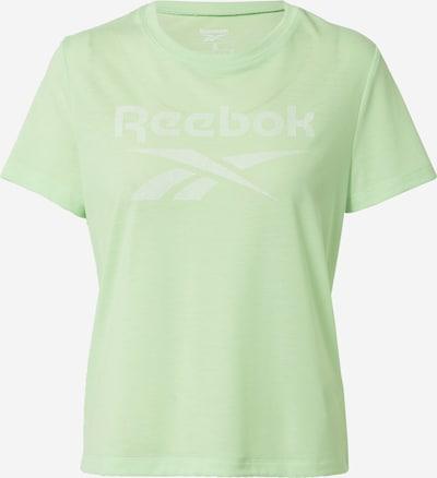 REEBOK Sporta krekls piparmētru / balts, Preces skats