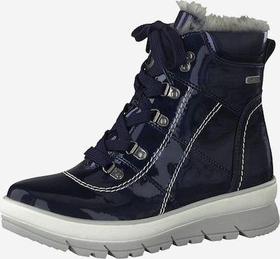 JANA Lace-Up Ankle Boots in Blue / Light grey / White, Item view