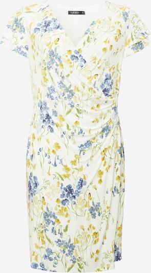 Lauren Ralph Lauren Kleid in creme / blau / goldgelb / hellgrün, Produktansicht