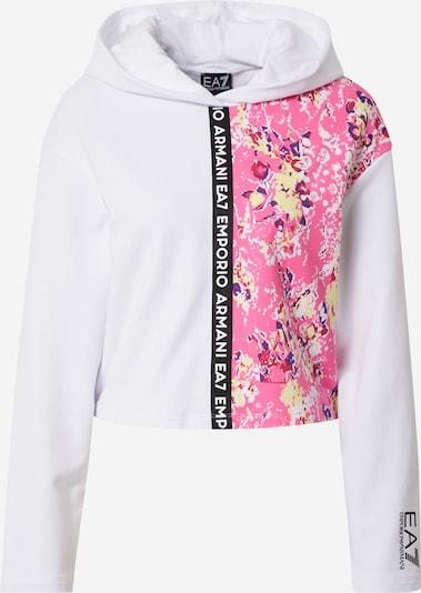 EA7 Emporio Armani Sweat-shirt 'FELPA' en mélange de couleurs / blanc, Vue avec produit