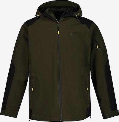 JP1880 Functionele jas in de kleur Olijfgroen / Zwart, Productweergave
