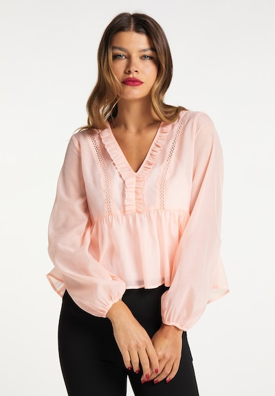 faina Bluse in rosa, Modelansicht