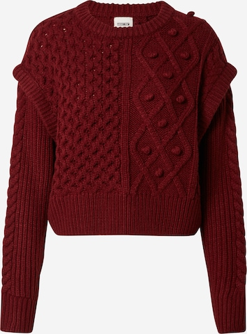 Pull-over 'Melanie' ABOUT YOU x Laura Giurcanu en rouge