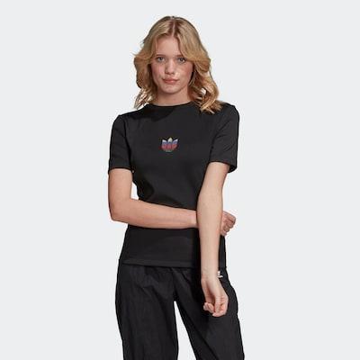 ADIDAS ORIGINALS Shirt 'Adicolor' in de kleur Zwart: Vooraanzicht