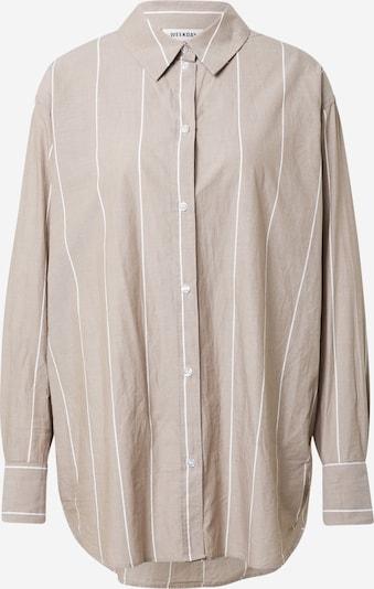 WEEKDAY Blouse 'Edyn' in de kleur Camel / Wit, Productweergave