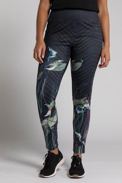 Ulla Popken Leggings in graphit / rauchgrau / oliv / smaragd / orchidee, Modelansicht