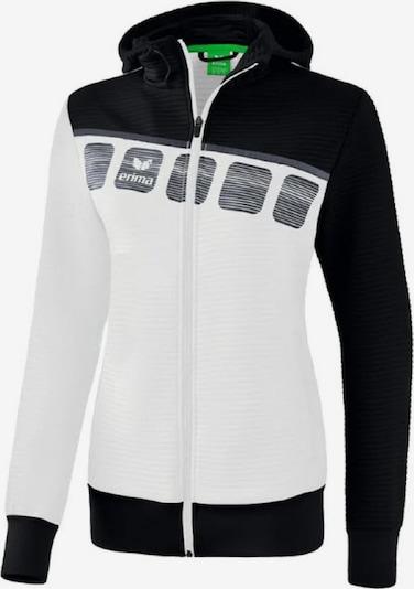 ERIMA Trainingsjacke in schwarz / weiß, Produktansicht