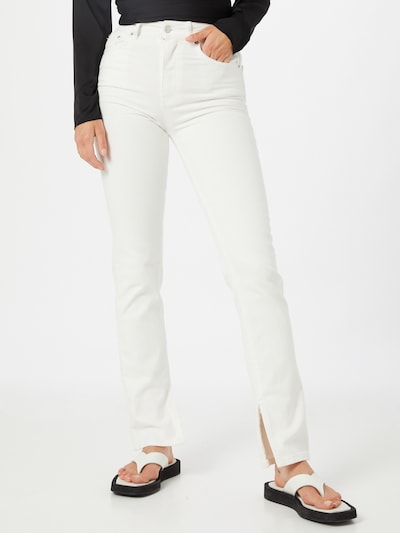Jeans Gina Tricot pe alb denim, Vizualizare model