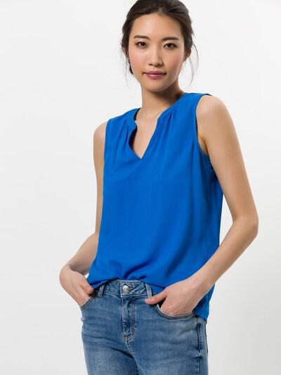zero Bluse in royalblau, Modelansicht