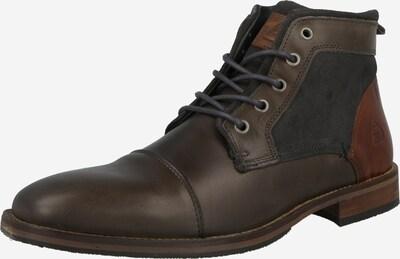 Pantofi cu șireturi '681K50108A' BULLBOXER pe maro coniac / maro închis / gri grafit, Vizualizare produs