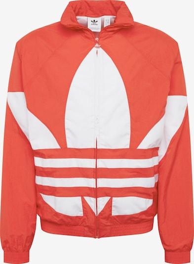 ADIDAS ORIGINALS Tussenjas 'Big Trefoil' in de kleur Rood / Wit, Productweergave