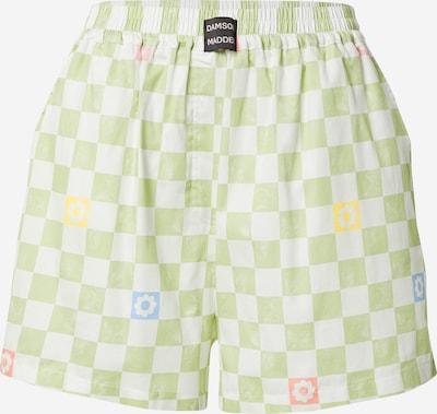 Damson Madder Панталон в светлосиньо / жълто / зелено / светлочервено / бяло, Преглед на продукта