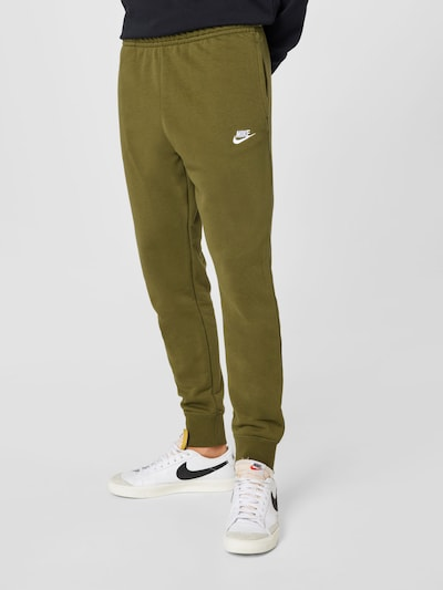 Nike Sportswear Pants in Khaki / White, View model