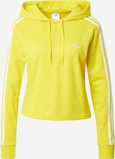 ADIDAS PERFORMANCE Sportiska tipa džemperis dzeltens / balts, Preces skats