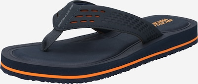 SKECHERS Zehentrenner 'TOCKER' in navy / grau / orange, Produktansicht