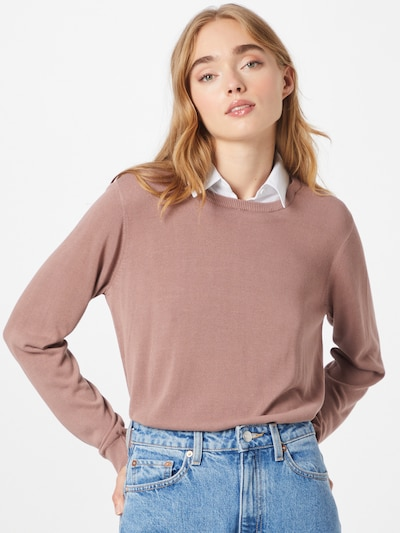 Soyaconcept Pullover 'PALOMA' in lila / weiß, Modelansicht