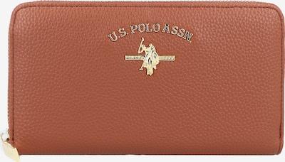 U.S. POLO ASSN. Portemonnaie in braun / gold, Produktansicht
