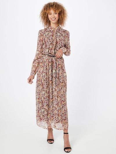 s.Oliver BLACK LABEL Kleid in hellorange / dunkelorange / rot / weiß, Modelansicht