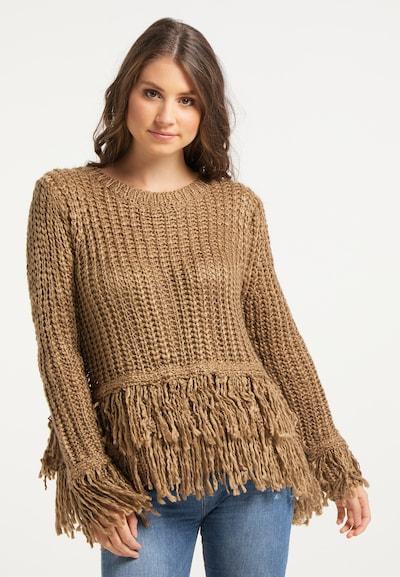 IZIA Pullover in hellbraun, Modelansicht