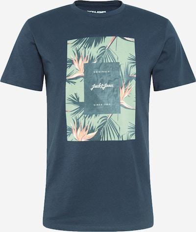 JACK & JONES T-Krekls debeszils / piparmētru / oranžs / balts, Preces skats