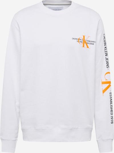 Calvin Klein Jeans Sweatshirt in de kleur Sinaasappel / Zwart / Wit, Productweergave