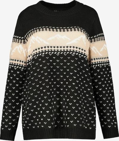 Ulla Popken Pullover in creme / schwarz, Produktansicht