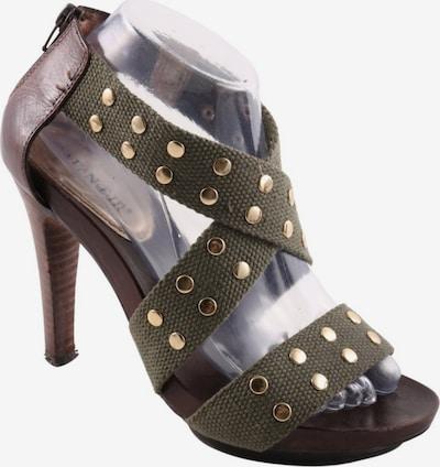 CAFÈNOIR Sandals & High-Heeled Sandals in 39 in Brown / Gold / Khaki, Item view