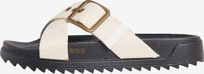 Superdry Pantolette in creme / marine: Frontalansicht