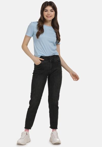 MYMO Shirt in de kleur Lichtblauw: Vooraanzicht