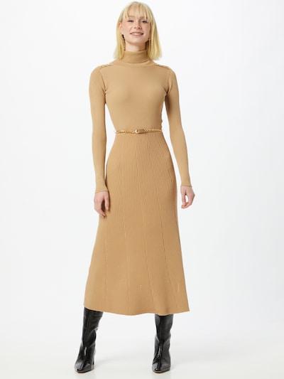 River Island Šaty - světle hnědá / zlatá, Model/ka