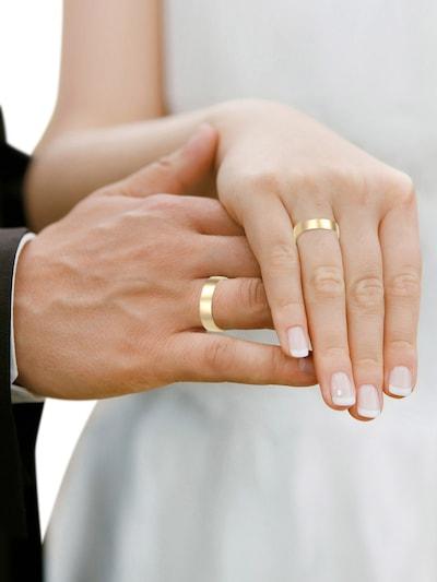 ELLI PREMIUM Ring in gold: Frontalansicht