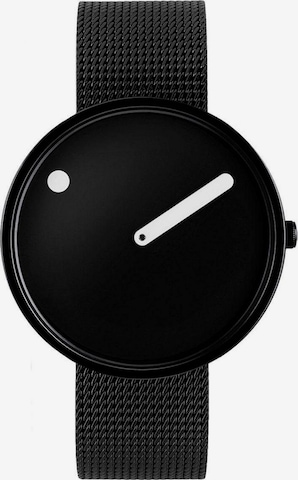 Picto Analog Watch in Black