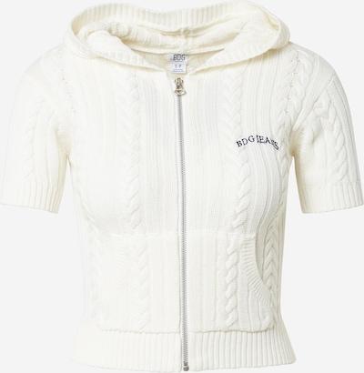 BDG Urban Outfitters Adīta jaka, krāsa - balts, Preces skats