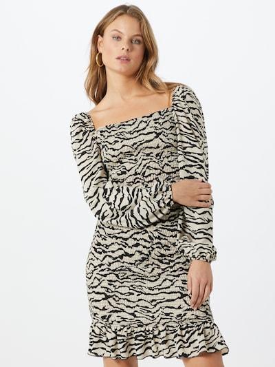 Missguided Kleid in schwarz / weiß: Frontalansicht