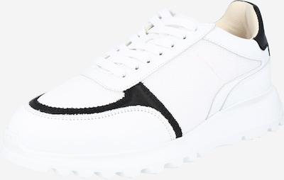 SELECTED HOMME Nízke tenisky 'CALEB' - čierna / biela: Pohľad spredu