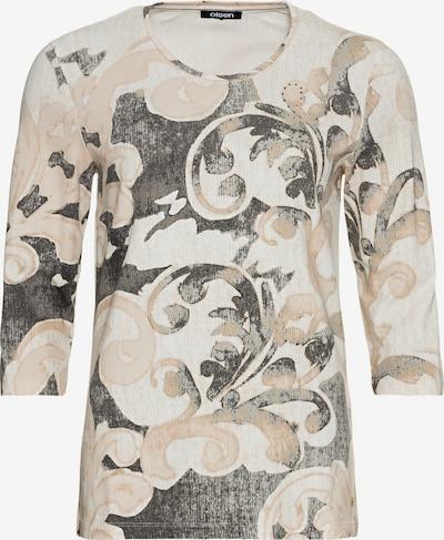 Olsen Shirt in beige / dunkelgrau / puder, Produktansicht
