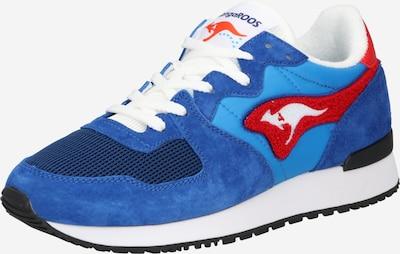 KangaROOS Baskets basses 'Aussie' en bleu marine / bleu clair / rouge / blanc, Vue avec produit
