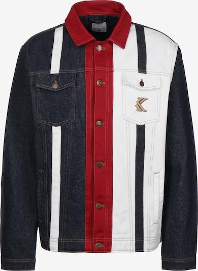 Karl Kani Übergangsjacke 'OG Rinse Denim Stripe' in navy / rot / weiß, Produktansicht