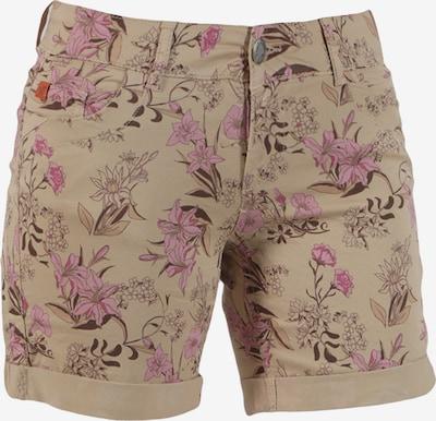 Miracle of Denim Shorts 'Lessi' in beige / braun / pink, Produktansicht