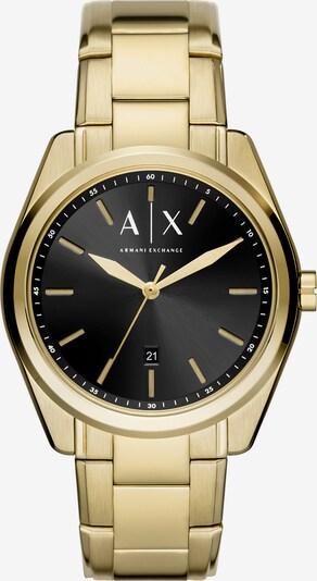 ARMANI EXCHANGE Uhr in gold / schwarz, Produktansicht