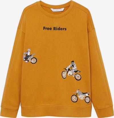 MANGO KIDS Sweater majica u med / siva / crna / bijela: Prednji pogled