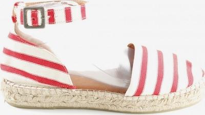 EDITED Espadrilles-Sandalen in 40 in rot / weiß, Produktansicht