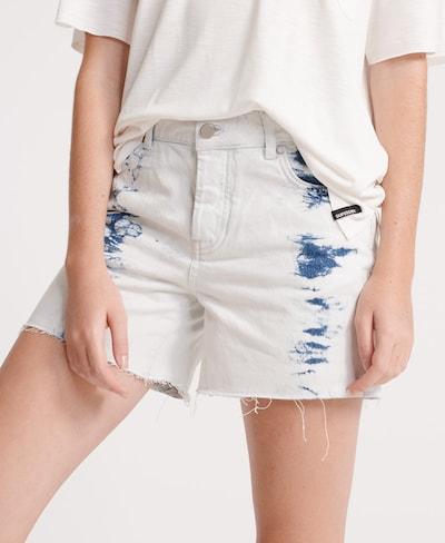 Superdry Jeans in de kleur Blauw denim / Wit, Modelweergave