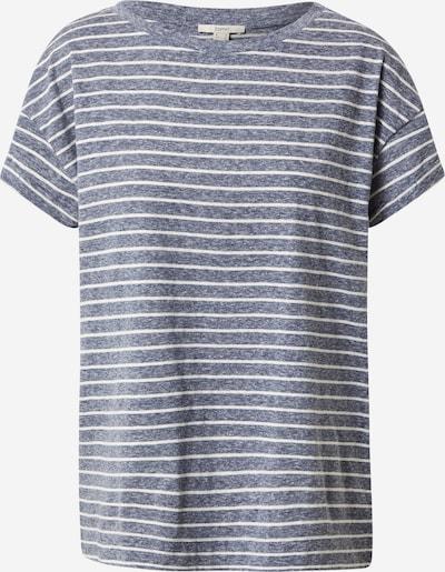ESPRIT T-Shirt in blaumeliert / weiß, Produktansicht